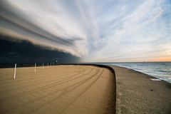 Chicago Shelf Cloud as seen from North Avenue Beach Pier 9-21-2016 (cshimala) Tags: chicago weather cloud shelfcloud clouds storm lakemichigan northavenuebeach lakefront canon canon7d