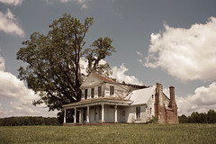death by tree (History Rambler) Tags: old abandoned plantation house home rural south historic sad decay ruin lost forgotten lonely southern virginia