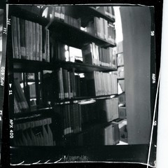 THE LIBRARY, pinhole (anaguma shashin o toru) Tags: pinhole blackwhite coffee can camera homemade diy selfprinted bathroom darkroom library jerusalem
