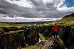 Fjarrgljfur (Mike_Y_Wong) Tags: iceland travel canyon ravine fjadrargljufur rocks mountains clouds sky landscape long exposure