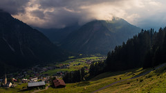 Kleinwalsertal (Netsrak) Tags: berg berge mountains mountain alpen alps gemeindemittelberg vorarlberg sterreich at kleinwalsertal house houses haus huser kirche church cloud clouds tree trees baum bume wald forest woods forst outdoor