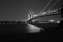 Bnw its just right (deeval99) Tags: nightimages bridges longexposure bnwphotography blackandwhite bnw nyc statenisland verrazanobridge