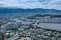 Fukuoka, Japan (Mondmann) Tags: fukuoka japan city cityscape asia river bridge mountains sky clouds fukuokatower kyushu mondmann nikond7100