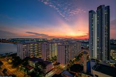 After Glow [Explore] (Chye Guan, Tan) Tags: sunset bluehour hdb hdbheartland hdbscape tebangarden landscape urbanscape building singapore singaporescape fujifilm fujifilmxpro2 xpro2