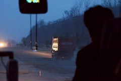 Youth Hero Highway North Korea (Joseph A Ferris III) Tags: bus night northkorea pothole dprk youthherohighway