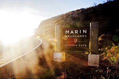 Marin Headlands (Leighton Wallis) Tags: sanfrancisco california road birthday ca usa sunrise dawn bay unitedstatesofamerica hill goldengatebridge marinheadlands 75thanniversary ggnpc11