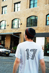 Joe - Meatpacking District c. 2007 (Rachel Citron) Tags: friends sunset youth joseph hipsters cobblestones gothamist meatpackingdistrict beanie curbed eveninglight summerinthecity concretejungle beautifuldecay soccerjersey joefitzpatrick ignat thelocaleastvillage