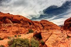 Overhang (jakemorgan96) Tags: las vegas red mountains rock canon landscape photography scenery jake desert nevada scenic canyon fisheye morgan 35 8mm hdr t3i photomatix tonemapped