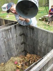 Compost! (G.A.L.A.) Tags: gala rainbarrel compostbin solarclothesdryer 42412 amtp raisedgardenbed sustainaraiser