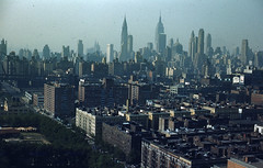 1953 New York Skyline from E 68th