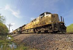 Sulfur Train (Philip_Martin) Tags: up wisconsin train adams pacific union sulfur ge wi 7111