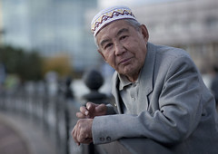 Mereke, Astana, Kazakhstan (Eric Lafforgue) Tags: old portrait people man male hat horizontal standing outside religious outdoors person exterior muslim islam faith capital religion belief age elder chapeau foi spirituality capitale wisdom centralasia kazakhstan kazakh personne humanbeing easterneurope vieux homme astana contemplation dehors religieux musulman sagesse debout exterieur lookingatcamera waistup vueexterieure leaningagainst croyance couvrechef spiritualite etrehumain lookingcamera akmola restingagainst cadragealataille audessusdelataille akmolinsk regardantlacamera ethniekazakhe ethnickazakh kz9514 sappuyersur