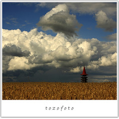 (tozofoto) Tags: light summer sky storm tower nature colors field rain weather clouds canon landscape hungary grain stormy minimal spike viewpoint zala top20cloud top2020 anawesomeshot flickrdiamond tozofoto