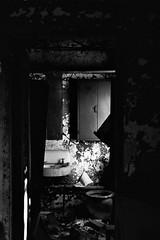 Shiver into the lonely night (Stephen Poullas) Tags: bathroom break kodaktmax400 canonrebelk2