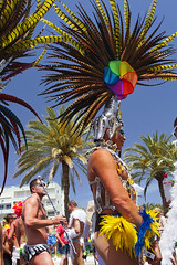 Maspalomas Gay Pride 2012 (Alex Bramwell) Tags: carnival gay grancanaria festival palms drag rainbow spain colorful parade gaypride dragqueen mardigras canaryislands headdress maspalomas
