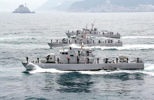 2009년1월2일 해군 고속정편대 기동
