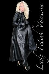 Vanessa total black leather (piloukam) Tags: black girl lady fetish shoes noir highheels boots gimp heels spike bottes compositing lany fekete lfv hautstalons ladyfetishvanessa