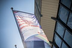 A Summit banner in Leipzig