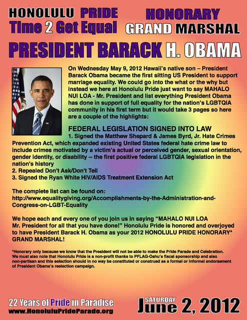 Honorary Grand Marshal President Barack Obama