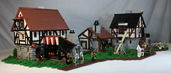 Village Remix (DARKspawn) Tags: building castle lego medieval vilage classiccastle darkspawn