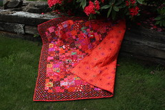 Seeing Red (Quiltsalad) Tags: quilting quilts patchwork kaffefasset westminsterfibers scrapquilts  quiltsalad qsquilts