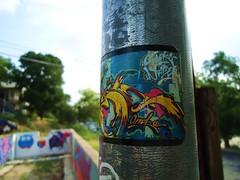 Jaber (O.G. Kraze) Tags: austin graffiti sticker texas slap dtc wildstyle kyt jaber