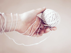 147/366 (Marie Lyn) Tags: pink white canon hand skin fingers wrapped simplicity string 365 simple twine 366