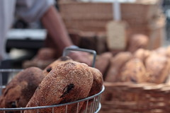 Baskets O Bread (John Loo) Tags: building ferry bread farmers market batard