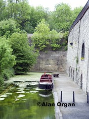 Boat at Lime Kilns (AlanOrganLRPS) Tags: reflection museum boat canal navigation waterways blackcountry limekilns peakyblinders