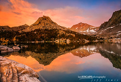 We the Kings (landESCAPEphotography | jeff lewis) Tags: park sunset lake reflection jeff clouds landscape hiking lewis canyon sierra kings nationa