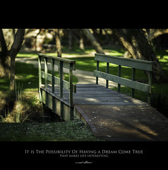 120 Quotes project | Quote 84 (Musaad (CJ)) Tags: life bridge green love nature grass by wooden inspired quotes