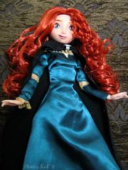 Brave... (DisneyKid96 (moved to new account)) Tags: green ginger doll pretty dress gorgeous curls disney merida pixar stunning cape cloak disneystore adventurous barve