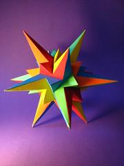 The Fifty-Nine Icosahedra (fdecomite) Tags: paper model cut geometry glue nine math fold fifty polyhedron polyhedra coxeter icosahedra polyedre