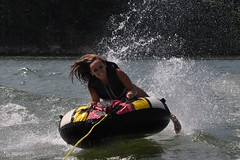 "Tubing fun (""On the Rox"") Tags: waterskiing watersports tubing slalom lakemartin slalomcourse"
