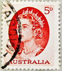 old stamp Australia postage 5d 5p pence red Queen Elizabeth QE II Australien postage bollo Australia francobolli timbre Australie   odly    5D stamp timbre poste-timbre bolli francobolli sello franco porto postage 5D (thx for sending stamps :) stampolina) Tags: red portrait rot postes rouge rojo women elizabeth stamps 5 retrato royal queen stamp vermelho porto windsor 5d portret timbre rood rosso commonwealth postage franco  vermilion merah selo bolli   sello piros  queenelizabethii punainen   briefmarken  rouges markas czerwony krmz  frimrker portr timbreposte francobolli bollo  pullar   queenelisabethii znaczki rdea erven  frimaerke   timbru  commonwealthofnations mu   yupio postetimbre  blyegek postacreti
