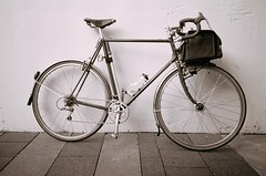 Centurion (joeball) Tags: seattle bw film 35mm dock ride bikes ballard viking thursday 83 bw400cn olympusinfinityjr point83 20120607 oij1