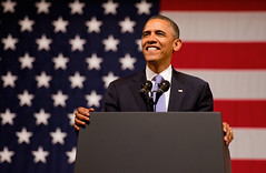 President Barack Obama (noamgalai) Tags: usa us stage flag president leader elections speech obama barackobama noamgalai sitemain