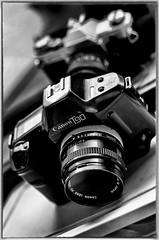 T90 (BlackRockBacon) Tags: camera light blackandwhite slr film canon pentax takumar t90 nik k5 supertakumar5014 silverefex lightroom4