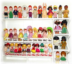 "Some of my vintage 6"" plastic doll collection (DollyBeMine) Tags: world boy 6 paris cute eye girl vintage french hongkong se outfit clothing big eyes inch couple doll dolls hand dress indian hula crochet hard plastic made souvenir international mohair hawaiian eyed awake asleep crocheted six ethnic googly eskimo madeinusa knickerbocker celluloid molded"