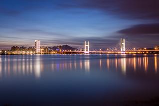 Bridge at Blue Hour 重陽大橋漲潮時分