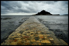 The Causeway to St Michaels Mount (Miles From Nowhere Photography) Tags: heritage history silhouette vanishingpoint silhouettes d800 nikond800 mileswinterburn