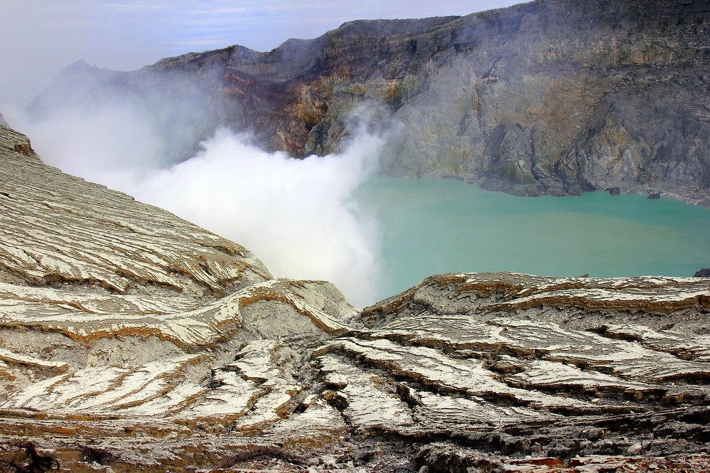 The acid lake at Kawah Ijen, East Java, Indonesia