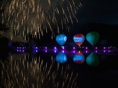 Lakers 2012 #3 (mlNYs) Tags: lake color reflection water night 35mm fire nikon fireworks balloon blow flame fx luxembourg manfrotto echternach samyang nikoniste d700 mlnys samyang35mmf14