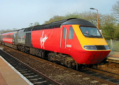 Lady In Red (R~P~M) Tags: uk greatbritain england train diesel unitedkingdom railway devon locomotive 43 125 hst virgintrains tiverton tivertonparkway