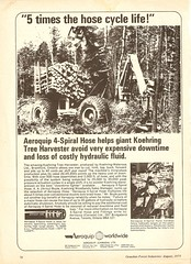 Aeroquip Ad 1973 (The Koehring Guy) Tags: wood hose advertisement short harvester hydraulic waterous aeroquip shortwood koehring kh3d koehirng