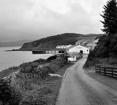 Another rainy day... (weetoon66) Tags: road bw landscape geotagged scotland nikon barrels argyll sigma escocia inner islay whisky distillery hebrides schottland ecosse bunnahabhain d5000 150500mm