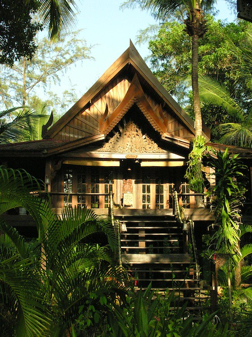 Typical house at Golden Buddha, Ko Phra Thong, Southern Thailand