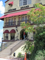 Jerome Grand Hotel in Jerome, Arizona, an Old Southwest Mining Town (Chic Bee) Tags: old arizona usa mountain southwest town steps mining staircase jerome jeromegrandhotel oldsouthwestminingtown