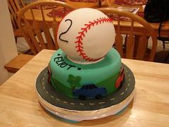 Baseball Cake by Christine S., Twin Cities, MN, www.birthdaycakes4free.com