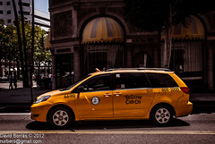 Yellow Cab (Nurbers) Tags: california usa yellow drive la los angeles cab taxi hills rodeo beverly 6690